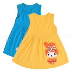 Bộ 2 Đầm sát nách nhiều màu cho bé gái ( Khách chọn combo) D07- MihaBaby- D07