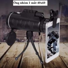 Ống nhòm chụp ảnh cho điện thoại Telescop 40×60 + tặng Giá đỡ 3 chân + bao da + kẹp điện thoại