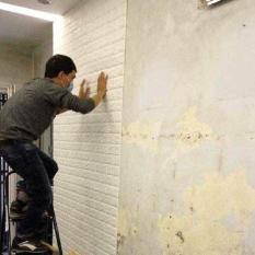 50 tấm Xốp Dán Tường 3D Giả Gạch Bóc Dán / Chịu lực, chống nước, chống ẩm mốc / 70x77cm