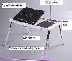 Bàn để laptop đa năng bằng nhựa ABS cao cấp có quạt tỏa nhiệt – Kmart