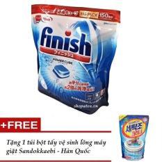 Viên rửa bát Nhật Bản Finish Power Cube ( túi 150 viên ) dành cho máy rửa bát