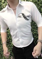 Áo sơ mi nam in họa tiết lông vũ cao cấp cá tính cực chất shop vanle