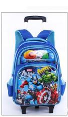 Balo kéo học sinh cấp 1 cấp 2 Spider Man siêu nhẹ chống thấm nước(màu xanh)