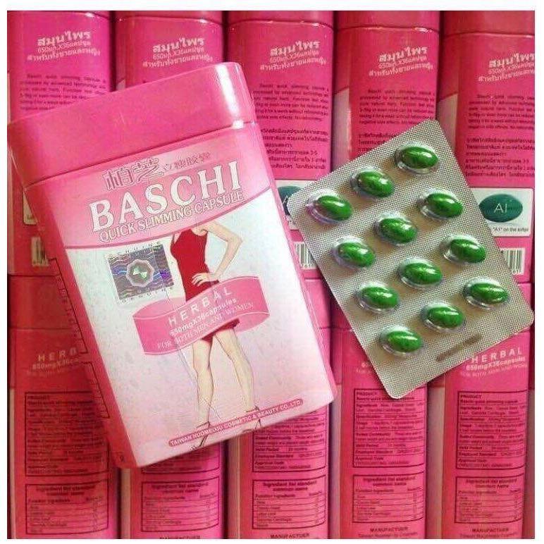 Giảm cân Baschi hồng (hộp thiếc 36 viên)