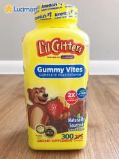 Kẹo dẻo gấu L'il Critters Gummy Vites từ USA, bổ sung Vitamin A,B,C,D,E 300 viên (mẫu mới nhất)