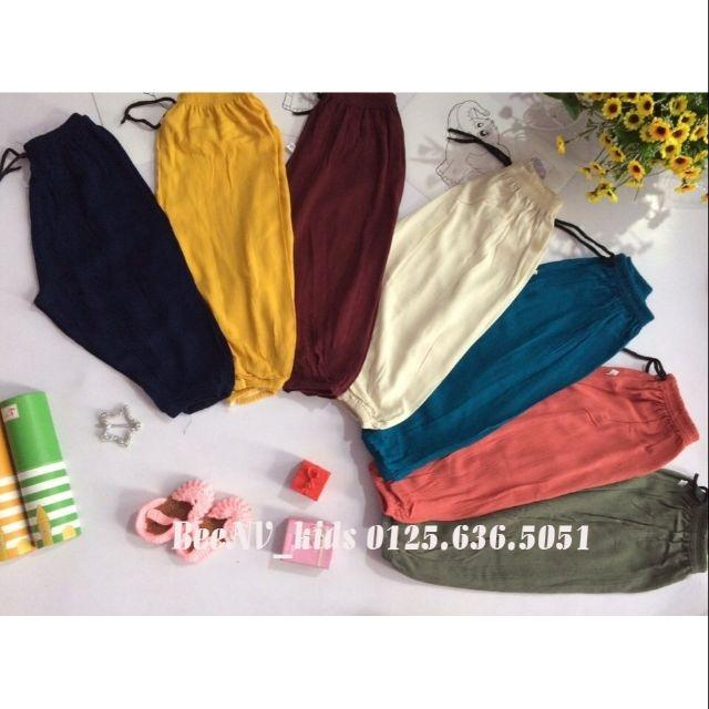 Combo 4 quần alibaba chất thô đũi cho bé gái