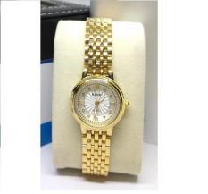 Đồng hồ nữ Halei dây vàng mặt trắng cách điệu
