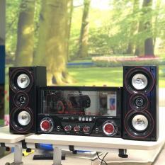 Dàn âm thanh tại gia – Dàn âm thanh tại nhà – loa vi tính cỡ lớn hát karaoke có kết nối Bluetooth USB SKYNEW SKN-345 2.1 Tặng kèm Mic hát