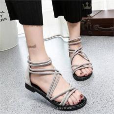 Giày sandal cột dây nhung