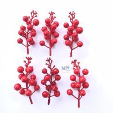 6 cành quả Diệu (quả Cherry) trang trí giáng sinh noel