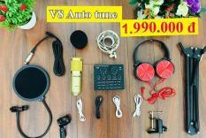 Combo Sound card V8 và Mic Woaichoang BM-900 + Tặng tai nghe siêu trầm