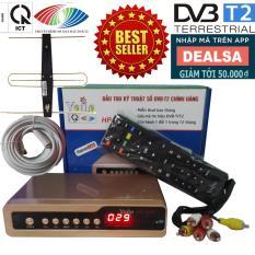 Đầu thu kỹ thuật số SET TOP BOX DVB-T2/HP-1115 kèm Bộ Anten Có Mạch Khuếch Đại, Dây Cáp và Jack Nối