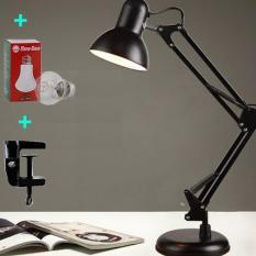 Đèn học, làm việc, đọc sách để bàn kiểu kẹp tặng kèm đế và bóng đèn