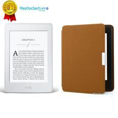 Máy đọc sách Kindle Paperwhite 2018 và Bao da Inox (Màu Nâu)