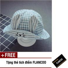 Nón vành hình thỏ vải cotton thời trang bé gái Flancoo 1733 (Xanh dương) + Tặng kèm thẻ tích điểm Flancoo