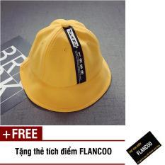 Nón vành vải jean thời trang bé gái Flancoo 1701 (Vàng) + Tặng kèm thẻ tích điểm Flancoo