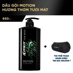 Dầu gội nước hoa X-men for Boss Motion 650g tặng Túi Thể thao sành điệu trị giá 150k