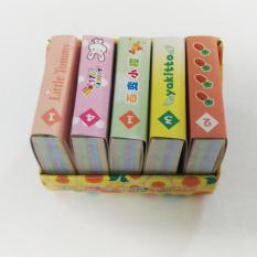 Hộp 5 tập giấy xếp hạc 4 x 4 Cm (gần 600 tờ), giấy gấp hạc, giấy gấp sao