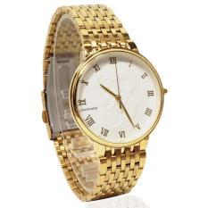 Đồng hồ nam dây thép mạ vàng mặt rồng BAISHUNS BAS11002 (Mặt trắng +vàng)