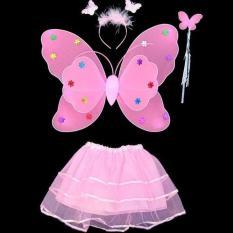 Bộ cánh tiên (cánh bướm) trung thu kèm váy cho bé