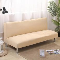 Bọc Sofa Không Có Tay Vịn Ba Người Bọc Toàn Bộ Một Màu Đơn Giản