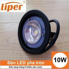 Đèn LED pha hình tròn 10W chống nước IP65 ánh sáng trắng/vàng LIPER LPFL-10CY01