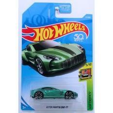 ô tô mô hình tỉ lệ 1:64 Hot Wheels 2018 Aston Martin One-77 117/365 ( Xanh Aqua )
