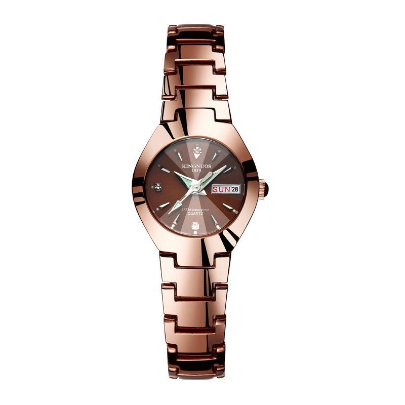 ĐỒNG HỒ NỮ KINGNUOS K1853 DÂY THÉP KHÔNG GỈ +tặng pin đồng hồ