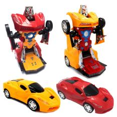 Đồ chơi Xe biến hình ROBOT tự động có nhạc, đèn, tự lái