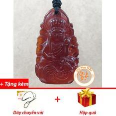 Mặt Dây Chuyền Phật Bản Mệnh Bất Động Minh Vương Tuổi Dậu Mã Não Đỏ