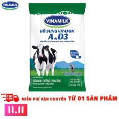 11.11 Deal độc quyền – Thùng 48 Bịch Sữa tiệt trùng Vinamilk có đường 220ml