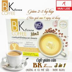 Cà phê BK Seven Coffee 3 in 1 (Vị cà phê sữa) (Hộp 10 gói nhỏ x 15g) – Thái Lan – Cải thiện vóc dáng