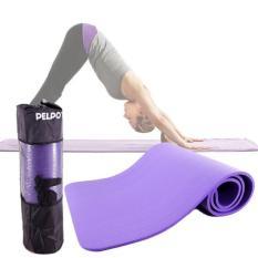 Thảm Tập Yoga Gym Nhập Khẩu Hàn Quốc Vân Dọc 10mm tặng quà túi đựng thảm và dây buộc thảm sang trọng (Nhiều Màu)