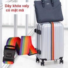 Dây khóa vali có mật mã (Cầu vồng)