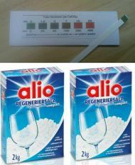 Muối rửa bát Alio 2kg – hàng Đức (tặng que thử nước cứng 20k khi mua 2 hộp trở lên)