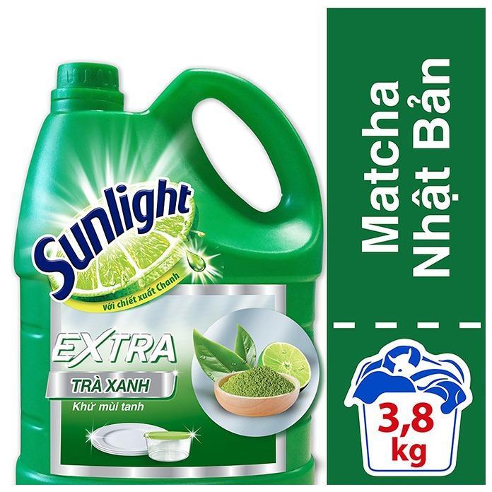 Nước rửa chén Sunlight Trà xanh Matcha Nhật Bản can 3,8kg