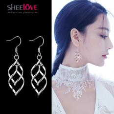 Bông tai dài tòn ten kiểu xoắn thời trang Hàn Quốc SPR-EH092