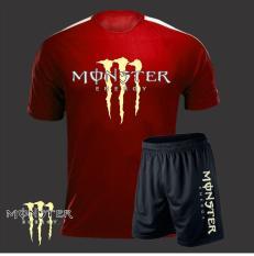 Quần áo Monster Energy thun lạnh cao cấp – Đỏ