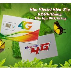 Sim 4G Viettel có 60Gb mỗi tháng – Gói cước SIEUTOC90