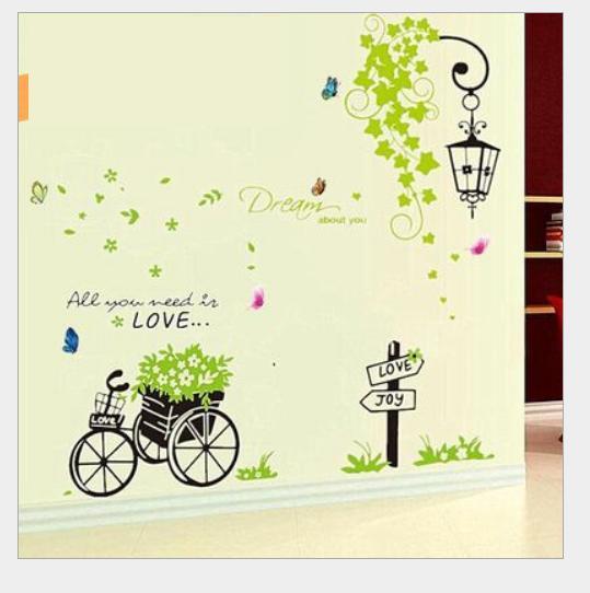 Decal dán tường Xe đạp + dây 50*70*2 – Mã L52,07