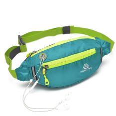 Túi đeo bụng thể thao chạy bộ Jinshiwo (xanh)