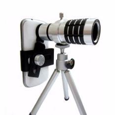 Ống kính zoom đa năng 12x Tele Lens Kit cho điện thoại (Bạc)