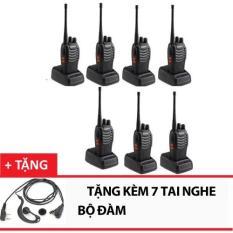 Bộ 7 Bộ đàm Baofeng 888s (Đen) +Tặng 7 tai nghe bộ đàm
