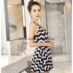 Áo Tắm 1 Mảnh Zigzag HLAT051 (Đen)