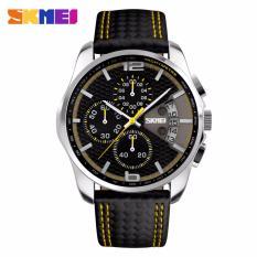 Đồng hồ nam SKMEI 9106 dây da kiểu dáng thể thao chạy 6 kim MDL-9106