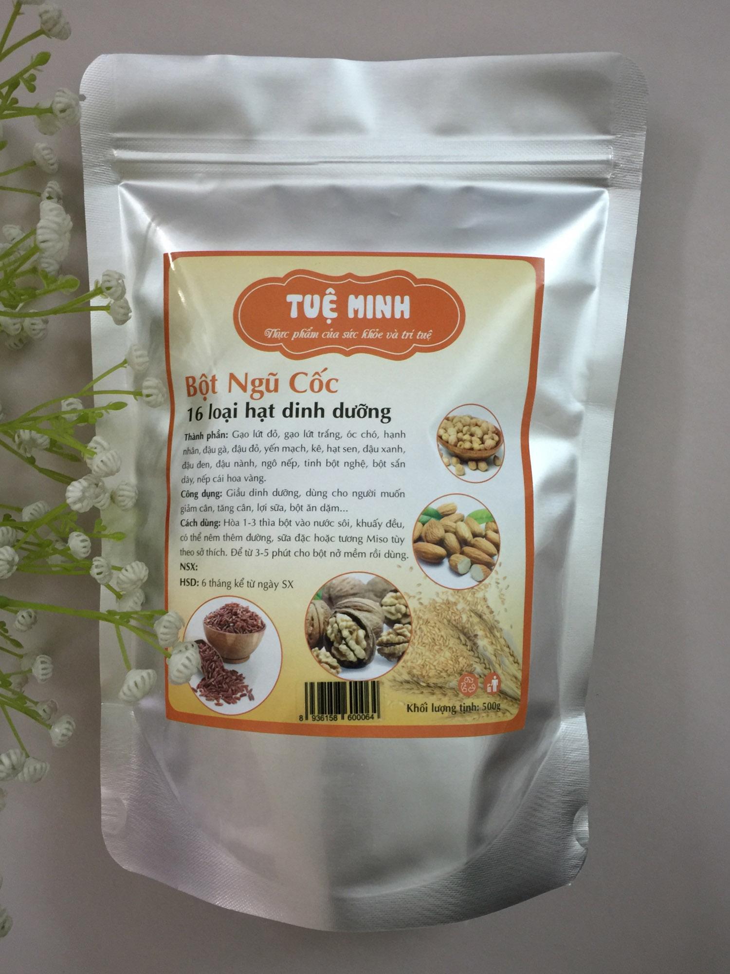 Bột ngũ cốc dinh dưỡng 16 loại hạt cao cấp Tuệ Minh 500gr