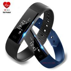 Vòng đeo tay thông minh theo dõi sức khỏe VeryFit Model ID115 (Xanh lam đậm)