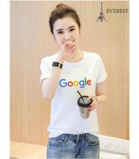 Áo thun nữ in hình chữ google vải dày mịn AoK1610 Everest