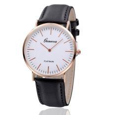 Đồng hồ nam – nữ dây giả da Geneva CG036_BL3967 (Đen)