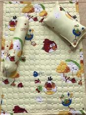 Bộ gối nệm cotton cho bé (1 nệm, 1 gối nằm, 1 gối ôm)